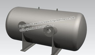 China Stainless Steel Industrial Steel Buildings Water Control Horizontal Bright Tank supplier