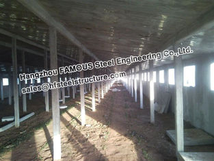 China Metal Sheds Industrial Steel Buildings For Car Garage , Painted Or Galvanized supplier