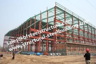 China Pre Painted Industrial Workshop Steel Frame Buildings S235JR Columns Frames supplier