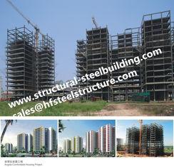China Apartments Fabricated Multi Storey Steel Frame Buildings , Skyscraper High Rise Steel Prefab Buildings supplier