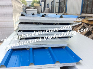 China Fireproof Cold Room Insulation Panel And Insulated Roofing EPS Sandwich Panels Width 1150mm supplier