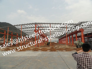 China Steel Framed Buildings /  Industrial Steel Buildings For Steel Warehouse And Showroom supplier