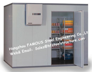 China Thermal Insulated Sandwich Panel Walk in Freezer And Prefab Refrigerator Chiller For Beverages supplier