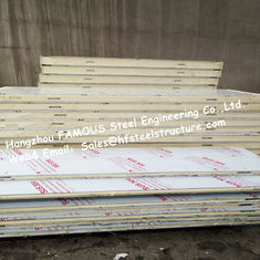 China Fireproof Industrial Freezer Panels / PU Sandwich Panels With Broad Availability supplier