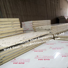 China Sliding Door / Swing Door PU Cold Room Panel Thickness 100mm For Walk In Freezer supplier