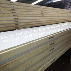 China Polystyrene Refrigerator Room Panels 42kg Density With Color Steel / Stainless Steel PlateExternal supplier