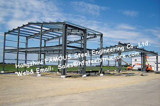 Black Prefabricated Steel Buildings , Structural Steelworks Building Australia New Zealand Standard