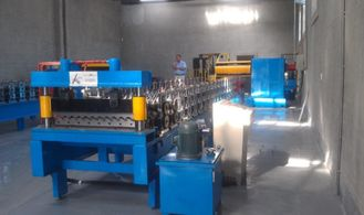 China High Speed Corrugated Forming Machine By Chain To Long Span Roof supplier