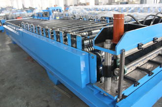 China Steel Tile Corrugated Roll Forming Machine By Chain / Gear supplier