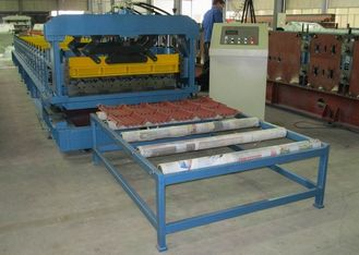 China Steel Roof Tile And Wall Panel Roofing Sheet Forming Machine 6.5KW supplier