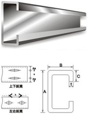 China Structural Steel Building Material Galvanised Steel Purlins C And Z Purlin Steel supplier