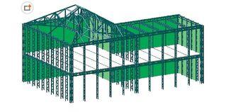 China Pre Engineering Industrial Steel Buildings Fabrication Used As Workshop Warehouse supplier
