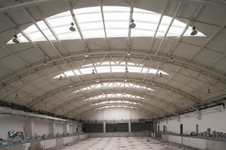 China Q235 Q345 Pipe Truss Large Industrial Steel Buildings Fabrication For Stations supplier