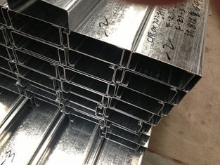China Q235 Q345 Galvanized C and Z Steel Purlins With 275g/m2 Zinc Coating Thickness supplier