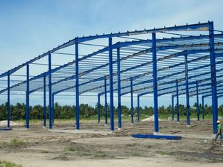 China Single Span Industrial Steel Buildings Fabrication With Prefabricated supplier
