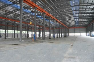 China Single Storey Several Spans Industrial Steel Buildings Fabrication supplier