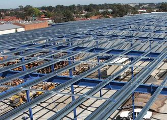 China Hot-Rolled Industrial Steel Buildings Fabrication For Portable Cabins supplier