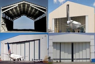 China Single Span Steel Structure Aircraft Hangar Buildings With Wall / Roof Panel supplier