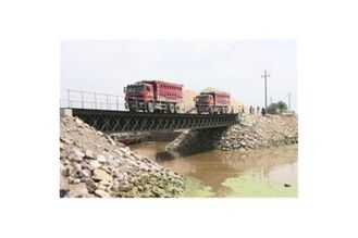 China Prefabricated Compact HD 200 Portable Steel Bailey Bridge Design  Long Fatigue Lifespan supplier