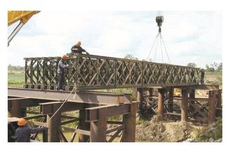 China Morden Galvanized / Welding Structural Steel Bailey Bridge With Heavy Metal Support supplier