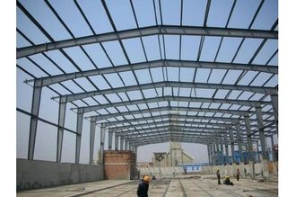 China Large-span Customized Galvanized Structural Steel Fabrications Frame Warehouse supplier