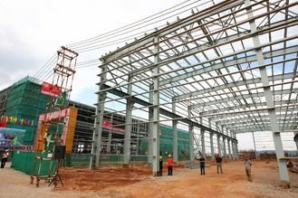 China Removable Pre-Engineering Building Durable With Angle / H / C Shape Steel supplier