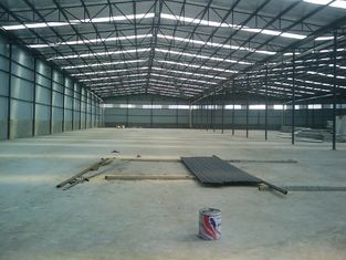 China Metal Pre-engineered Building Fabrication With Steel Panel Wall Roof supplier