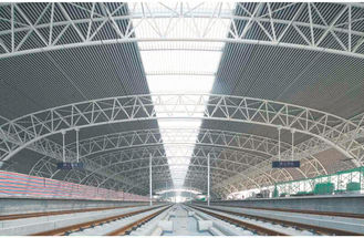 China Prefabricated Modern Industrial Steel Buildings , Wide Span Railway Station Tube Truss supplier