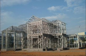 China Prefabricated Modular Designe Galvanized Commercial Steel Buildings With Cold Rolled Steel supplier