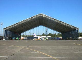 China Dip Galvanized Steel Aircraft Hangar Buildings Durable , Bespoken Design supplier