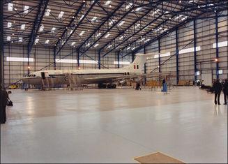 China I / H Beams Constructed Metal Aircraft Hangar Buildings Providing Grand Interior Space supplier