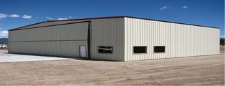 China Constructed I Beams Aircraft Hangar Buildings , Waterproof Hangarage Buildings supplier