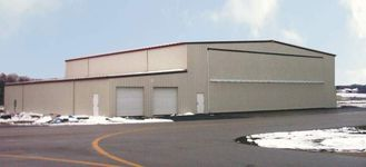 China Energy Efficient Steel Aircraft Hangar Buildings With Wall / Roof Panel supplier