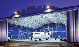 China Longevous Roof Systems Steel Aircraft Hangar Buildings Constructed Pipe Truss supplier