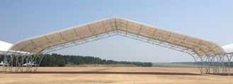Prefabricated Steel Piping Truss Aircraft Hangar Buildings With Big Span