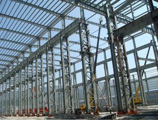 China Dual Arc Double Wire Welded Beams Fabricated Structural Steel Railway Station supplier