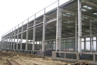 China Pre-engineering Industrial Steel Warehouse With Metail Wall And Roof Fabrication supplier