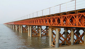 China OEM / Custom Welding Modular Steel Bridge / Compact Prefabricated Bailey Bridge supplier
