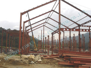 China Light Weight Steel Pre-engineered Factory Fabrication With Surrounding Cladding Panels supplier