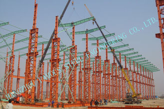 China Industrial ASTM Steel Framed Buildings , Prefab 75 X 120 Multipan Metal Buildings supplier