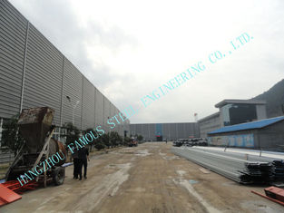 China Light  ASTM 65 X 95 Prefab Multipan Industrial Steel Buildings With Composite Boards supplier