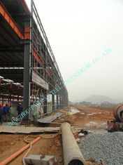 China 87 X 92  Prefabricated ASTM Industrial Steel Buildings With Grade A36 Shapes / Bars supplier