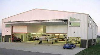 China Customized Prefabricated Steel Aircraft Hangars With Labour Saving supplier