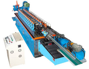China 15KW Hat Channel Cold Rolling Machine With Cr 12 Blade Hydraulic Cutting supplier