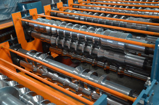 China Roof Sheet / Roof Tile Roll Forming Machine For Metal Roofing Tiles supplier
