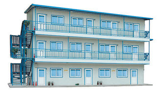 China Two / Three Layer Recyling Portable Prefab Steel House For Temporary Residence supplier
