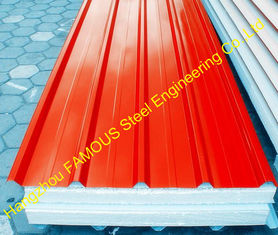 China Heat Insulation EPS Polyurethane Foam Sandwich Panels For House supplier