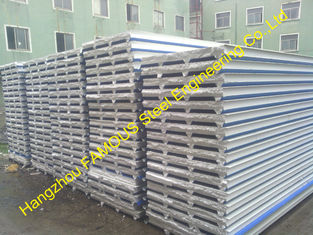 China Fireproof EPS Sandwich Panel For Steel Building Wall , Roof Cladding supplier