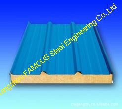 China Exterior Polyurethane Foam Sandwich Sheetsl For Refrigeration House supplier