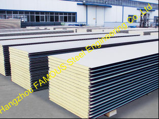 China Warehouse Metal Roofing Sheets / Polyurethane Panel Heat Insulation supplier